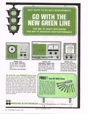 1965 Precise Electronics TV Service Equipment Vtg Print Ad