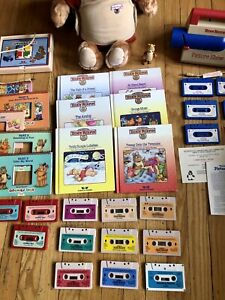 Vintage Teddy Ruxpin with Working Picture Show, Books, Tapes, & Answer Box