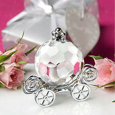1Pc Crystal Pumpkin Carriage Wedding Party Favors Home Desk Decor Accessories
