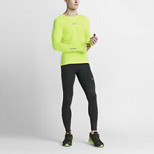 Nike Mens Dri-Fit AeroReact Half Zip Running, Gym, Sports Full Sleeve Top  L