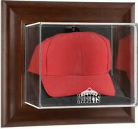 Denver Nuggets Team Logo Brown Framed Wall- Cap Case - Fanatics