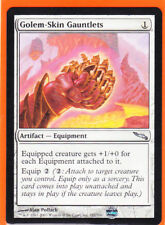 MTG Mirrodin Uncommon  1 x  GOLEM-SKIN GAUNTLETS 181/306 Never played  AS NEW