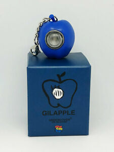 MEDICOM TOY UNDERCOVER GILAPPLE LED LIGHT KEYCHAIN without batteries BLUE