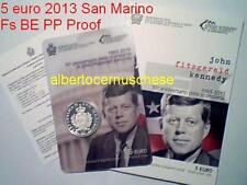 5 euro BE SAINT MARIN San Marino 2013 50 ans mort Kennedy Fitzgerald PP Fs Proof