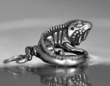 LOOK 3D Iguana Pendant charm Solid sterling silver Lizard