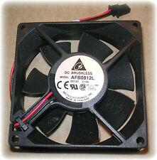 Fans, 12VDC, 80 x 80 x 25mm, 2400 RPM (Delta #AFB0812L) (Lot/2) (New)