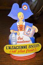 """Ancienne figurine papier publicité """"petite Sophie"""" l'Alsacienne biscuits"""