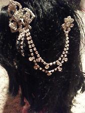 Crystal Silver Rhinestone Hair clip bridal flowers barrette Hairpin free ship