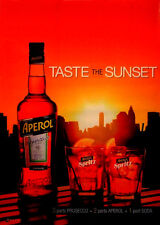 Aperol Spritz TASTE THE SUNSET Orig AD Poster 2'x 3' Rare 2012 Mint