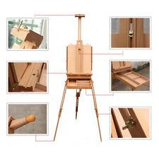 Wooden Oil Painting Easel Sketch Box Portable Folding Durable Art Artist Tripod