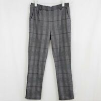 LOVE TREE Women's Pants Trousers Gray Stretch Plaid Work Business Career LARGE