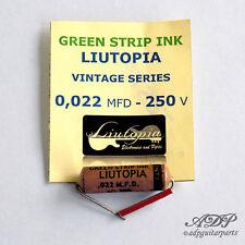 Condensateur Capacitor 22nF PIO Vintage Clone Liutopia Oil Paper Green StripInk