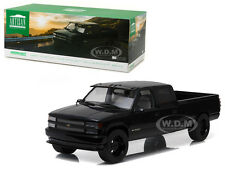 1997 CHEVROLET C-3500 CREW CAB SILVERADO BLACK 1/18 DIECAST BY GREENLIGHT 19016