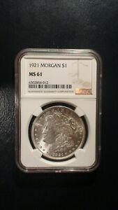 1921 P Morgan Silver Dollar NGC MS61 UNCIRCULATED $1 COIN Starts At 99 Cents!