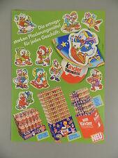Hütchen: Hoja de anuncio hütchen Donalds flota Familia 1987 - representante