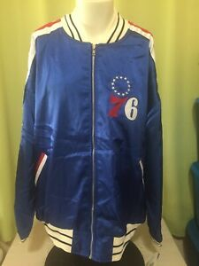 NWT Philadelphia 76ers Wilt Chamberlain Mitchell & Ness NBA Jacket Size 56 3XL