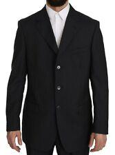 Z ZEGNA Suit Two Piece 3 Button Wool Silk Blue Striped s. EU52/US42/ L