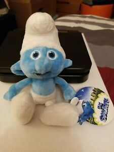 The Smurfs Movie SOFT CLUMSY SMURF Plush Stuffed Animal 2011 w/ TAG
