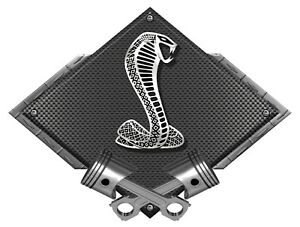 Ford SVT Mustang Cobra Black Carbon Diamond Metal Sign - Ford Licensed