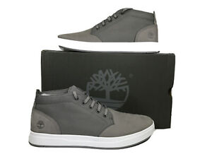 Timberland Davis Square Leather Chukka Grey Shoes Sneakers Men's Size 13 ZF-107