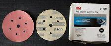 "NOS 3M HOOKIT RED ABRASIVE DISC, 6""/152 mm, P400, #01139"
