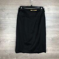 Lauren Ralph Lauren Women's Size 2 Pencil Skirt Black Belted 100% Wool Lined