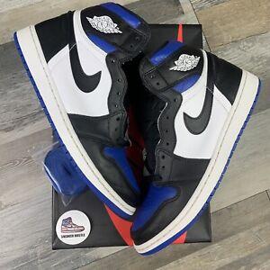 Nike Air Jordan 1 Retro High Royal Toe 555088-041 Size 10.5