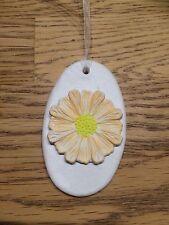 Hermoso Colgante Hecho a Mano Arcilla Etiqueta de Regalo de flores de naranja/Decoración Nuevo