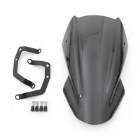 ABS Windshield Screen Windscreen with Bracket For Kawasaki Z650 2017-up Black B4