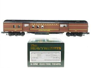 O Gauge 3-Rail K-Line Heavyweights K80-6529 PRR Pennsylvania RPO Passenger #6529