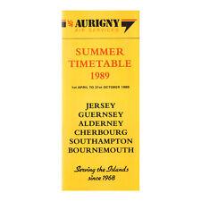 Aurigny Aria Servizi Della Compagnia Aerea Timetable (tabella Orari) Estate 1989