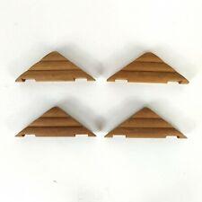 Lincoln Logs Lot 4 House Tressles Older Style Original Real Wood Vintage