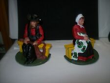 Cast Iron Amish Man And Woman Book Ends - Very Colorful