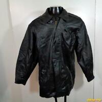 Wilsons Soft LEATHER JACKET Mens Size M medium black zippered insulated