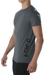 Asics Essential Logo Short Sleeve Mens Training Top - Grey