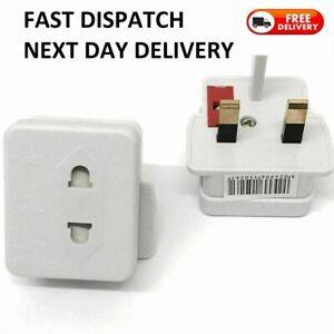 1EU 2 Pin To 3 Pin UK ELECTRIC SHAVER TOOTHBRUSH PLUG ADAPTOR/PLUG
