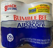 BUMBLE BEE Solid White Albacore Tuna in Water, 8 pk./5 oz.- SHIPS FREE!
