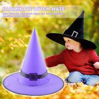Hexe Hut Maskerade Zauberer Hut Kappe mit Band Cosplay Halloween Requisiten #R