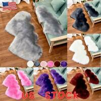 Heart Shaped Fluffy Rugs Shaggy Area Rug Soft Fur Bedroom Home Floor Carpet Mat
