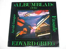 EDVARD GRIEG & ARVID GANGSO 33 RPM VINYL RECORD, ALBUMBLAD FASADE, EX
