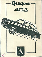 Dessin original Peugeot 403 automobile