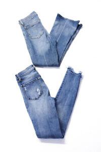 Rag & Bone Womens Cotton Denim Skinny Flared Leg Jeans Blue Size 24 Lot 2
