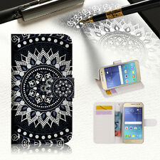 Black AZTEC TRIBAL Wallet Case Cover For Samsung Galaxy A5 2017 32GB - A005