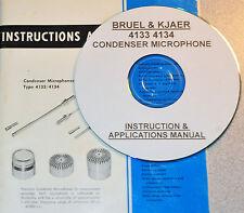 Bruel & Kjaer 4133 & 4134 Condenser  Microphone Operating/applications Manual