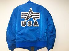 Seltene Alpha Bomber Jacket USA Small Blue Ma 1 From 1996 Original Jacket S
