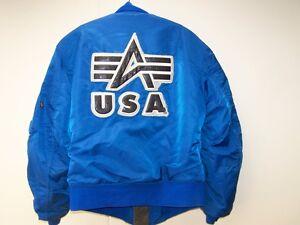 seltene Alpha Bomberjacke USA small blau MA 1 von 1996 original Jacke S