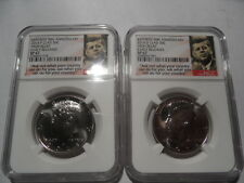 2014 Kennedy 50th Anniversary High Relief SP P+D Mint Half Dollars-NGC Cert-SP67