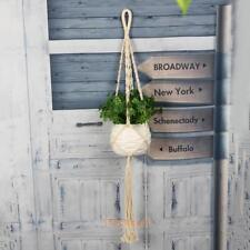 Handmade Decor Macrame Rope Plant Hanger Garden Flower Pot Holder Hanging Basket