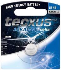 Tecxus Alcalina máximo LR43 Alcalino Pila de botón 1.5 V Batería