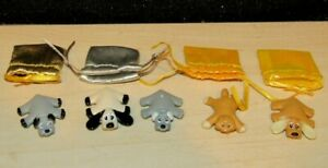 Vintage Pound Puppies 5 Mini Figurines Playset Replacement Dogs Plastic 1994-95